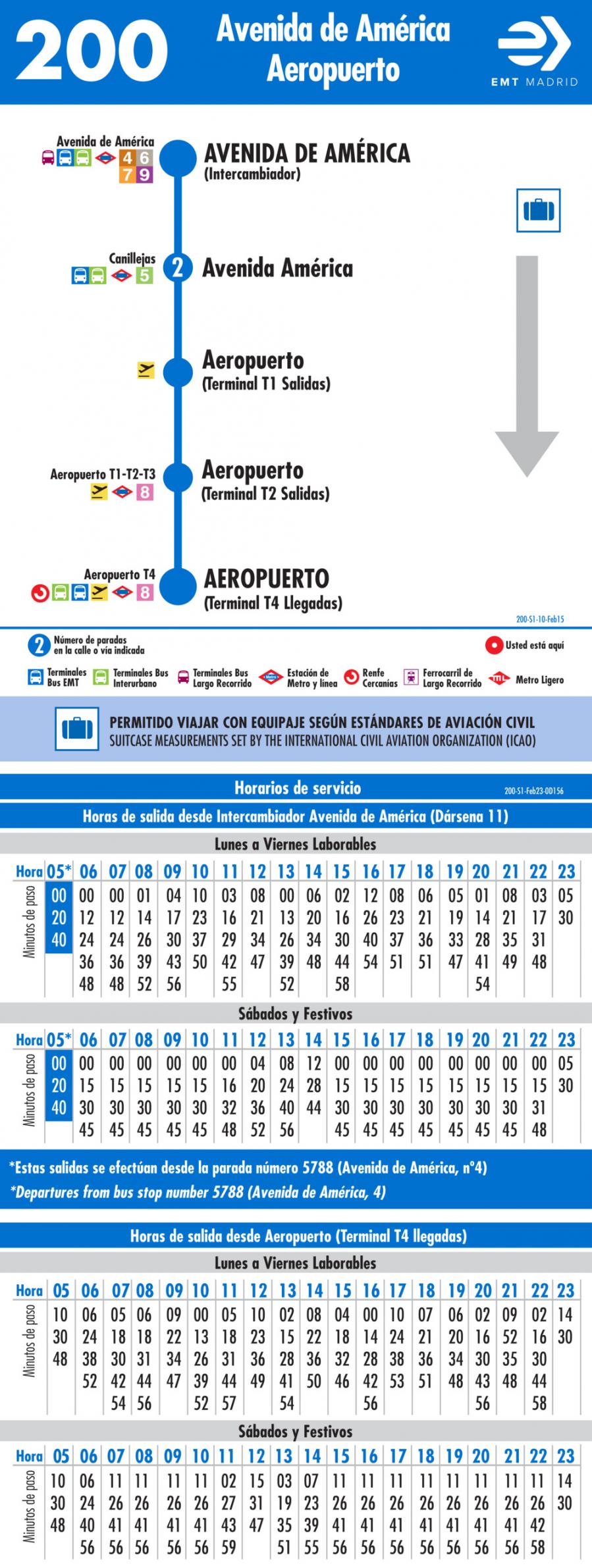 horarios aeropuerto: