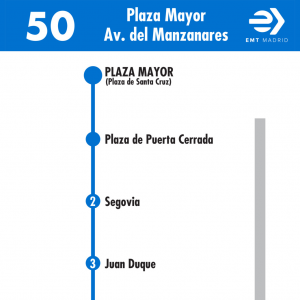 Horarios de autob s 50 puerta del sol avenida del for Del sol horario