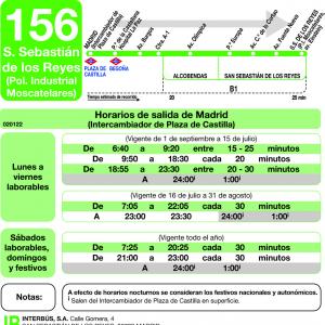 Horarios de autob s 156 madrid alcobendas san for Cristaleria san sebastian de los reyes