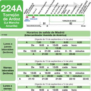 Horarios de autob s 224 a madrid torrej n de ardoz for Trasteros en torrejon de ardoz