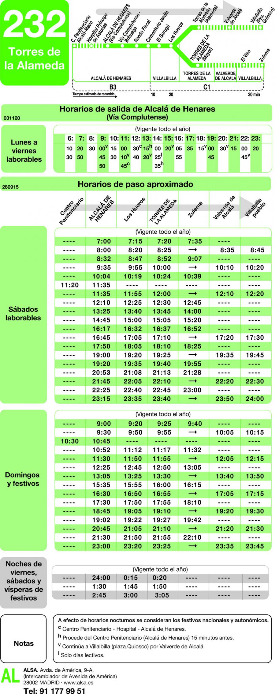 horario de autobuses de madrid: