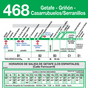 Horario de ida Línea 468 Autobuses Interurbanos
