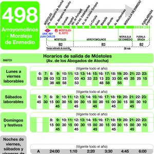 Horario de ida Línea 498 Autobuses Interurbanos