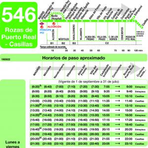 Horarios de autob s 546 madrid m stoles alcorc n for Horario correos puerto real