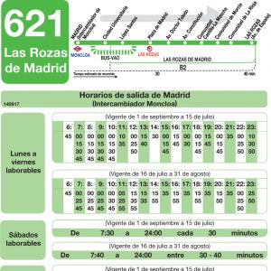 horarios de autob s 621 madrid las rozas de madrid