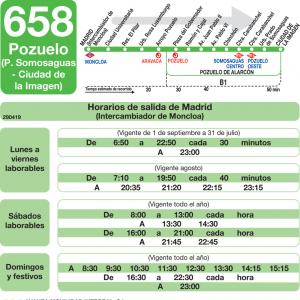 Horario de ida Línea 658 Autobuses Interurbanos