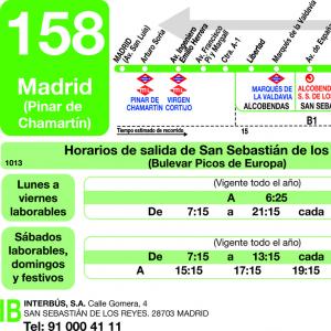 Horarios de autob s 158 madrid alcobendas san - Schmidt san sebastian de los reyes ...