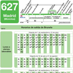 Horarios de autob s 627 madrid las rozas de madrid - Cb villanueva de la canada ...