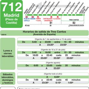 Horarios de autob s 712 madrid tres cantos - Aticos en tres cantos ...