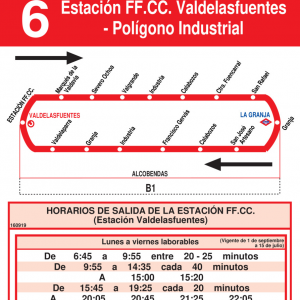 Horarios de autob s l 6 alcobendas for Horario renfe alcobendas