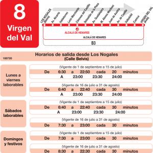 horarios de autob s l 8 alcal de henares